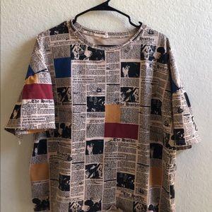 Newspaper t shirt unisex